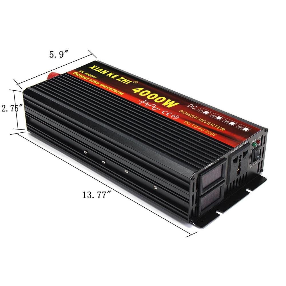 Closeout DealsInverter Voltage-Transformer Led-Display Wave Pure Sine 220V 3000/4000W 12V/24V To DC12V