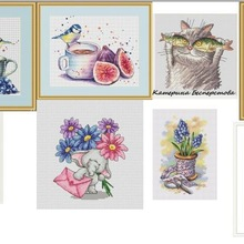 Cross-Stitch-Kit Gold-Collection Counted No-Print Blueberry Cotton with Tea And RS Ff-Mm