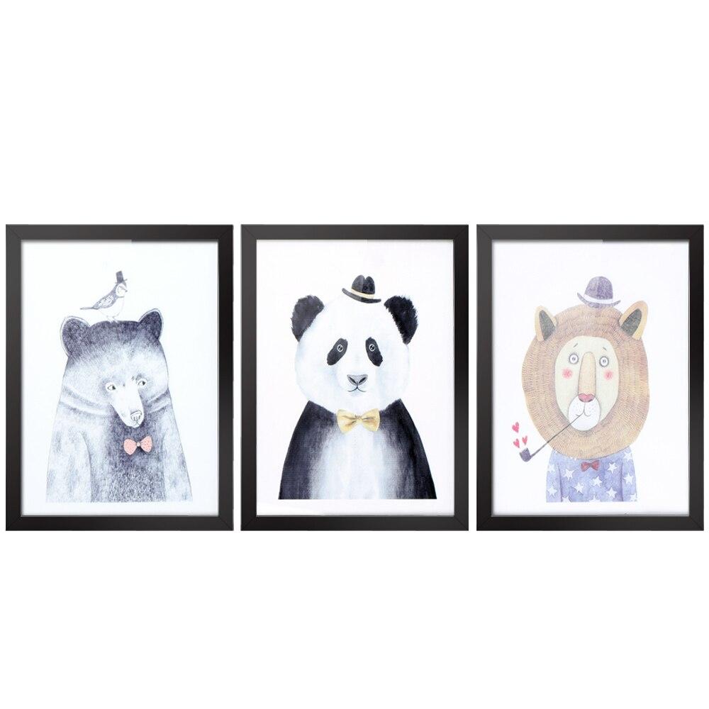 30*40cm lienzo impresiones removibles imagen de pared arte calcomanía decoración de la habitación pintura reutilizable 3 paneles con marco regalo de bienvenida