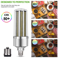 Super Bright Corn LED Light Bulb E27 6500K Daylight 5400 Lumens for Large Area Commercial Ceiling Lighting