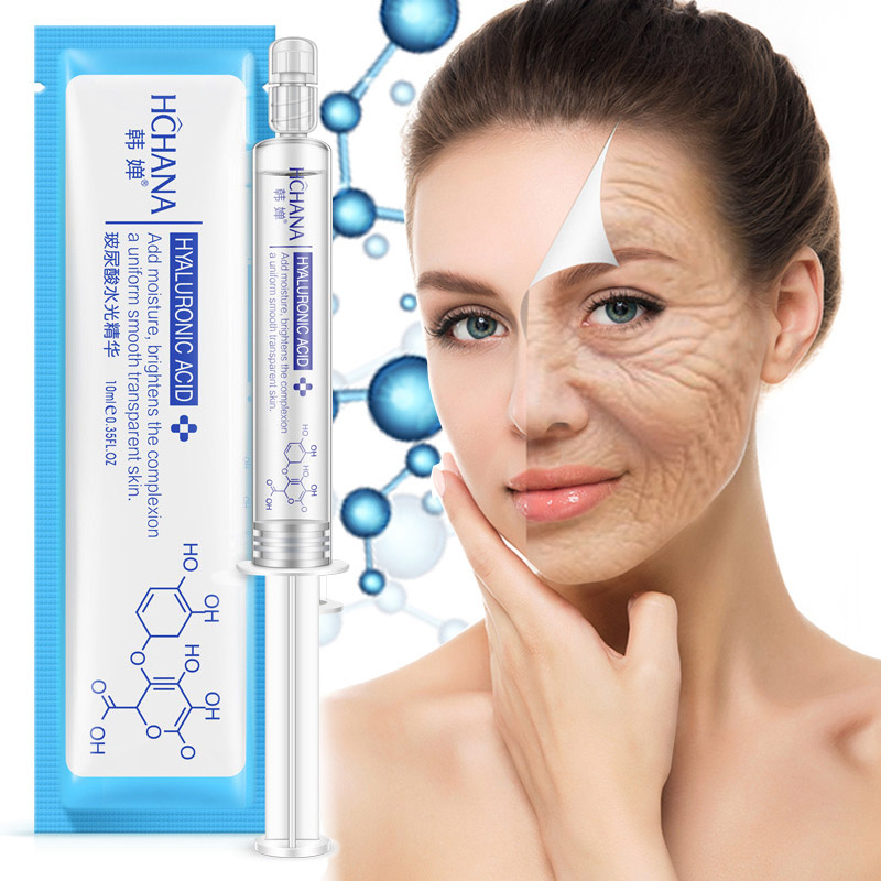 Anti-wrinkle Anti Aging Hyaluronic Acid Face Essence Liquid Anti-Aging Shrink Pore Moisturizing Whitening  Cream Dry Skin Care W