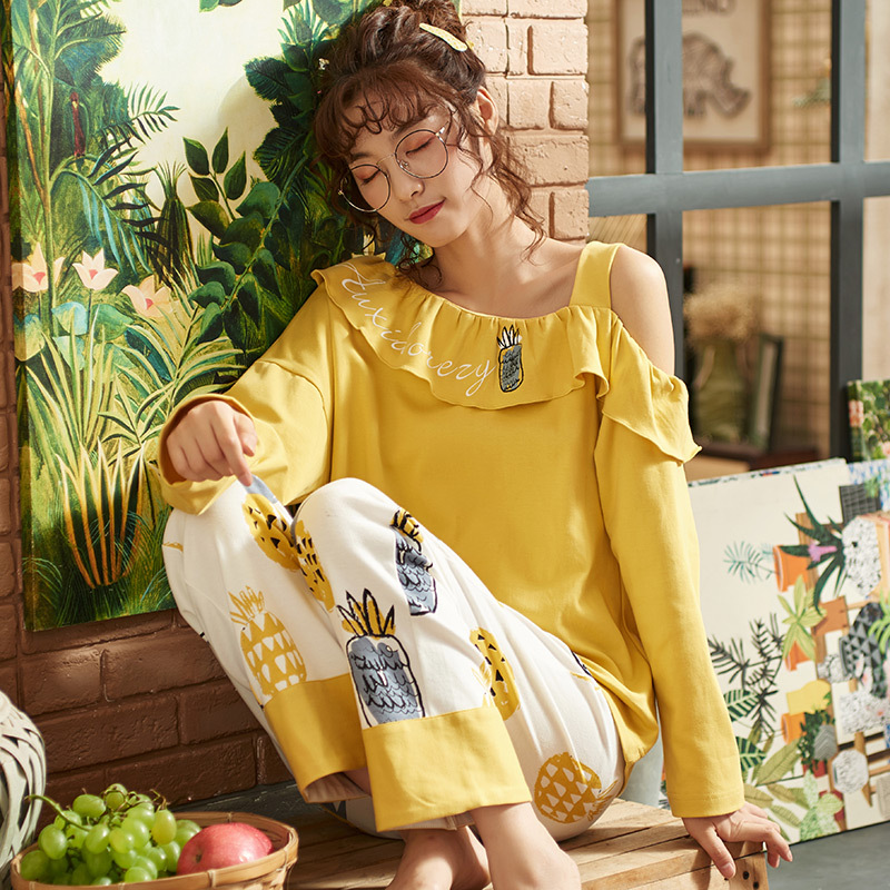 Women Printing Spring Long Sleeve Sleep Nightgown 15 Styles Available Female Ladies Nightgown