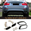 Наконечники выхлопной трубы глушителя из нержавеющей стали для BMW X6 E71 30D 35D 40D 2008 2009 2010 2011 2012 2013 автомобильный Стайлинг