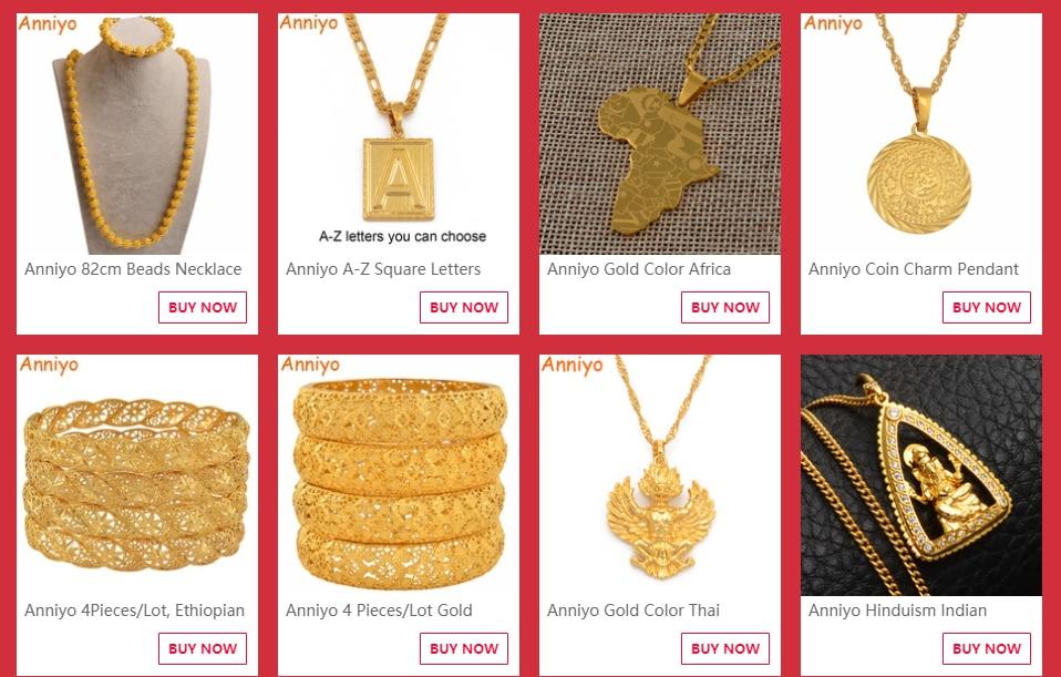 Anniyo египетская Королева Нефертити кулон ожерелья для женщин и мужчин ювелирные изделия золотой цвет оптом ювелирные изделия Африканский подарок#163506