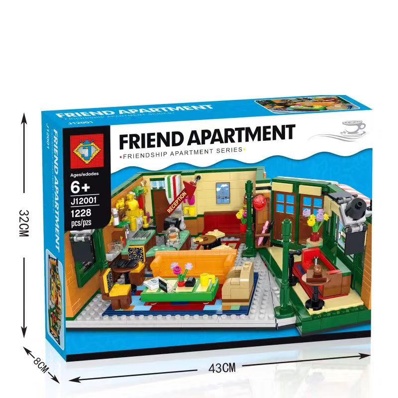 1228Pcs Friends Classic TV American Drama Friends Central Perk Cafe Fit Model Building Block Bricks 21319 Toy Gift 1