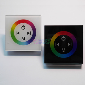 Image 2 - DC12V 24V single color/RGB/RGBW wall mounted Touch Panel Controller glass panel dimmer switch Controller for LED RGB Strips lamp