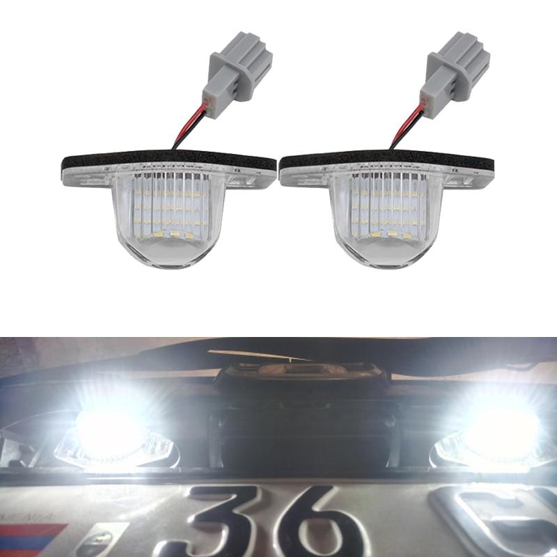 2x Fits Honda HR-V MK1 Bright Xenon White LED Number Plate Upgrade Light Bulbs