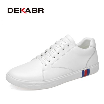 DEKABR High Quality Leather Casual Shoes Men Sneakers Trainers Lace-up Flats Fashion Driving Shoes Zapatillas Hombre Size 38~46