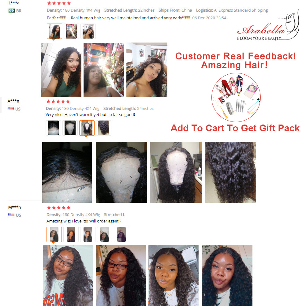 Water Wave Wig 4x4 Closure Wig With Baby Hair  PrePlucked 13x4 Lace Front Wig Arabella  Water Wave Lace Front Wig 6