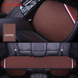 Image 4 - Para lada vesta 3 pçs capa de assento do carro frente assentos traseiros respirável protetor esteira almofada acessórios automóvel quatro estações para lada vesta