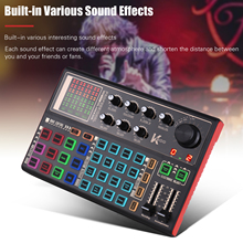 Muslady SK300 Live Soundkarte Externe Voice Changer Audio Mixer Sound-effekte für Live-Streaming Musik Aufnahme telefon Karaoke