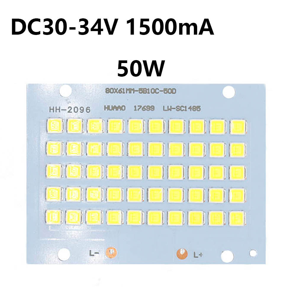 SMD5054 LED Chip Lamp Beads 10W 20W 30W 50W High Power 130LM/W Smart IC Cree LED 32-36V For Indoor Outdoor DIY Kit