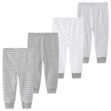 Baby Long Pants Newborn Unisex Girl Boy Trousers 3 4Pcs/lots Striped Baby Leggings Cotton Pantalones 0-12M roupas de bebe
