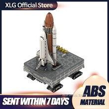 MOC-46228-lanzador de espacio móvil, Plataforma sobre orugas, transporte, Diy, bloques de construcción, creador, serie espacial, juguetes, regalos