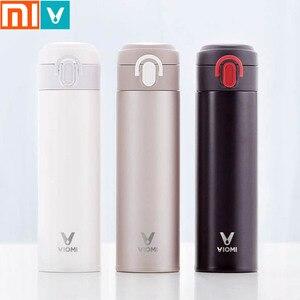 Image 1 - Originale Xiaomi Norma Mijia VIOMI Thermos mi Tazza In Acciaio Inox Vuoto Bottiglia Intelligente 24 Ore di Acqua Boccetta Thermos Sola Mano SU/Close