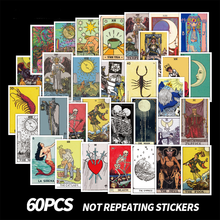 50/60pcs Tarot Cards Divination Graffiti Stickers For Notebooks Car Stationery Laptop Adesivos Craft Supplies Tarot Sticker