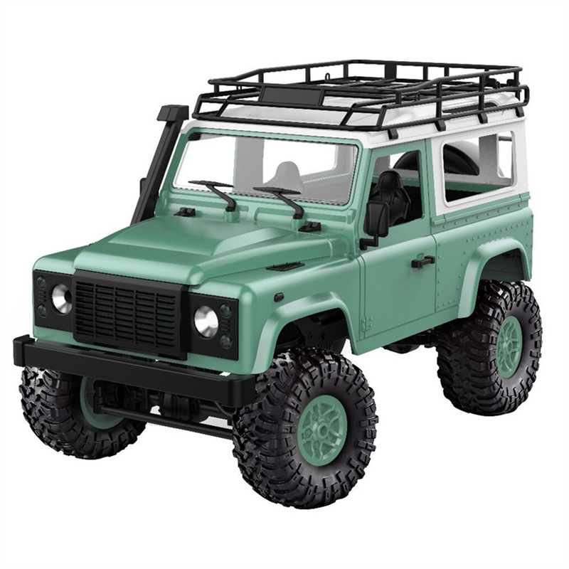Mn-90 1/12 2.4G 4Wd 15Km/H Rc Car With Front Led Light 2 Body Shell Rock Crawler Truck Rtr Toy Christmas Gift Kids Boys(Green)