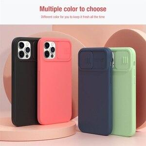 Image 5 - Voor Iphone 12 Pro 12 Pro Max Case Nillkin Camshield Zijdeachtige Magnetische Case Zachte Siliconen Slide Camera Bescherming Cover Voor IPhone12
