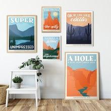 Póster de Gran Cañón del Parque Nacional, Impresión de viaje Vintage, Bryce Canyon Hd, lienzo impreso, pintura artística, decoración de pared