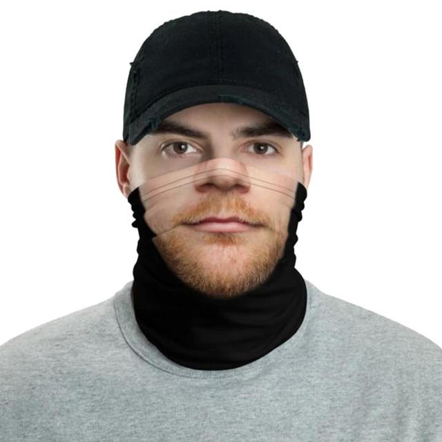 Unisex Rave Bandana Neck Gaiter Tube Headwear Scarf For Women Men Face Outdoor
