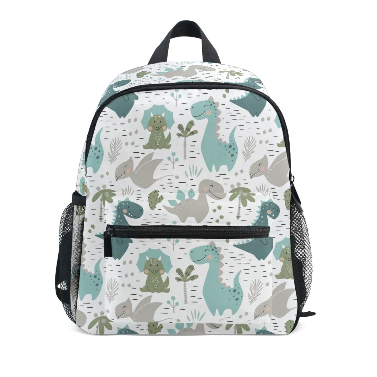 Bonito dinossauro crianças sacos de escola para