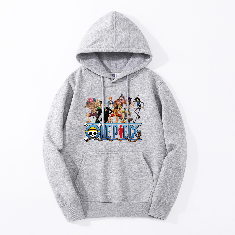 Men Hoodies Japan Anime Sweatshirts One Piece Tony Tony Chopper Winter Bodywarmer Fleece Hooded Men Hip Hop Harajuku Streetwear