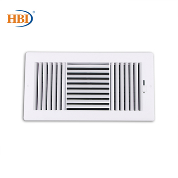 3-Way W14 x H6 Bright White Plastic Sidewall/Ceiling Register Air Grille Vent Ventilation Aeration