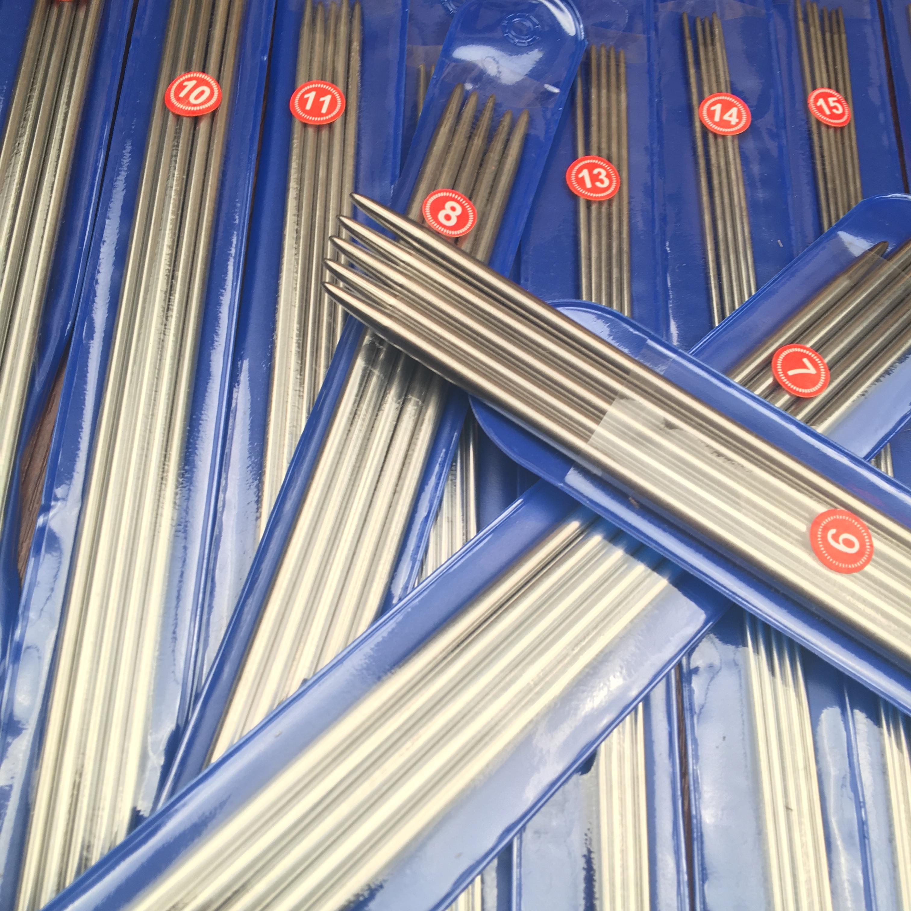 35 Pcs 2.0mm-5.0mm 7size /SET 25cm/35cm Stainless Steel Straight Knitting Needles Crochet Hooks Knitting Needles Set Size
