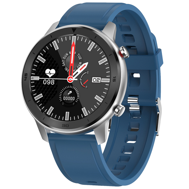DT98 Full Round HD Screen Sports Smart Watch Bluetooth Call ECG Heart Rate Blood O2 Monitor IP68 Waterproof Fitness Tracker-Silver