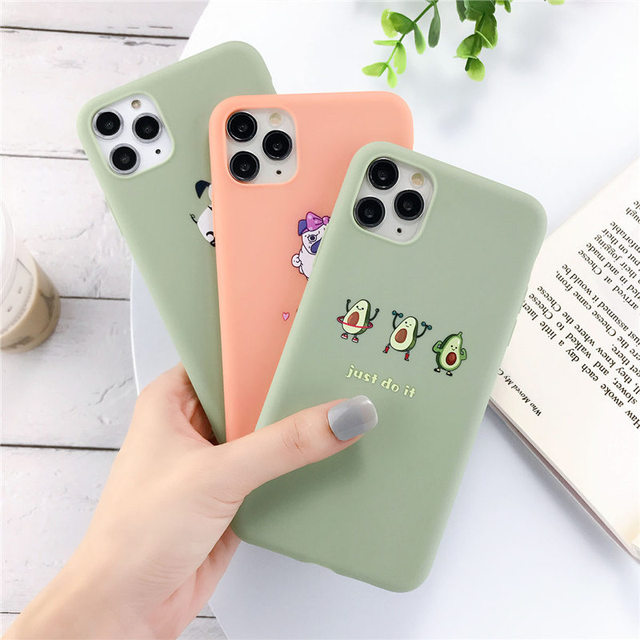 Lovebay Silicone Phone Cases For iPhone 7 XR 11 Pro Avocado Waves Cactus For iPhone 5SE 6 6s 8 Plus X XS Max Soft TPU Back Cover 2
