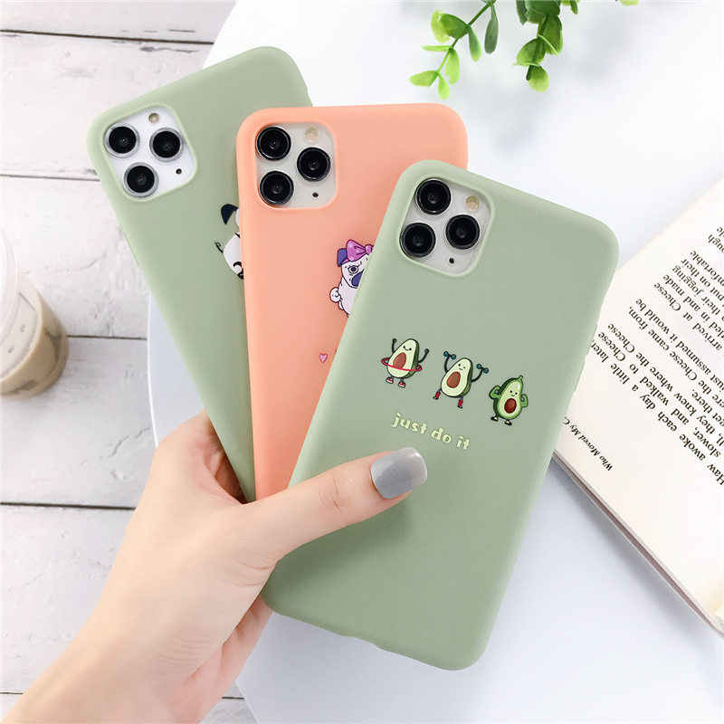Lovebay Silicone Phone Cases For iPhone 7 XR 11 Pro Avocado Waves Cactus For iPhone 5SE 6 6s 8 Plus X XS Max Soft TPU Back Cover