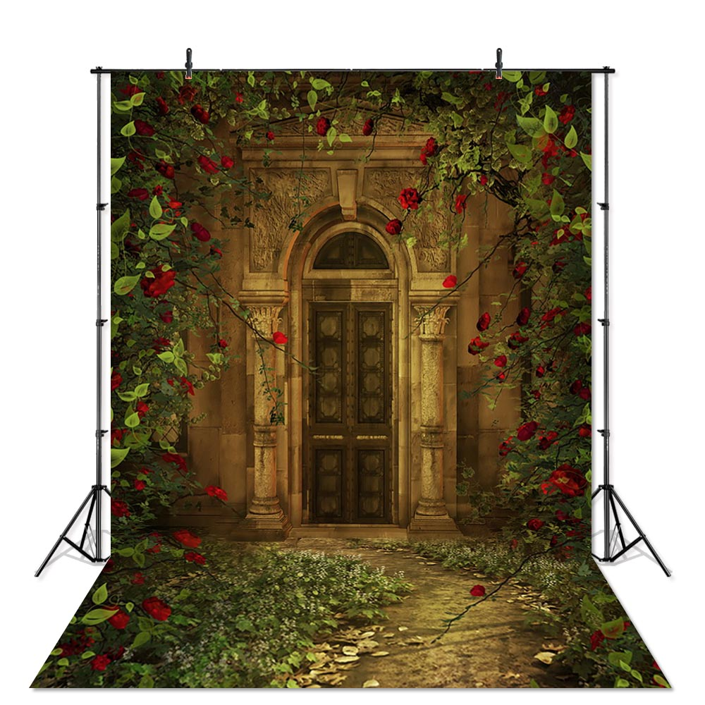 Mystic Castle Rose Beauty and the Beast Photography Backdrop Fantasy Fairy Tales Birthday Background for Photo Studio Props