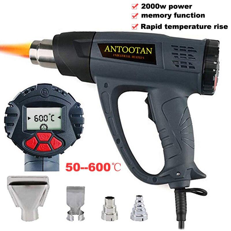 Heat Gun Hot Air Blower Tablet  Heat Gun with LCD Display 2000W Wireless Heat Gun Wind Control Memory Function Hot Air Gun Kits