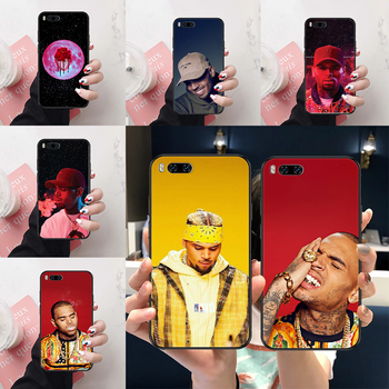 Singer Chris Brown Phone case For Xiaomi Mi Max Note 3 A2 A3 8 9 9T 10 Lite Pro Ultra black soft prime art Etui fashion image
