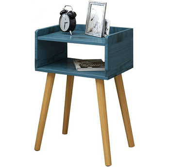 Living room modern coffee table solid wood leg storage table floating window mini talk tea table bedroom bedside table