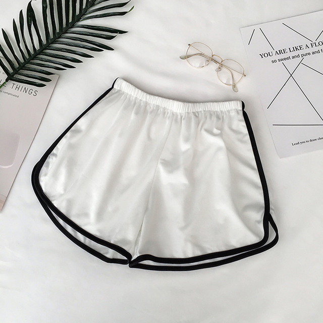 Zogaa Summer Street Casual Female Stretch Shorts Contrast Elastic Waist Correndo Shorts Mid Waist Causal Cotton Sexy Home Shorts 2