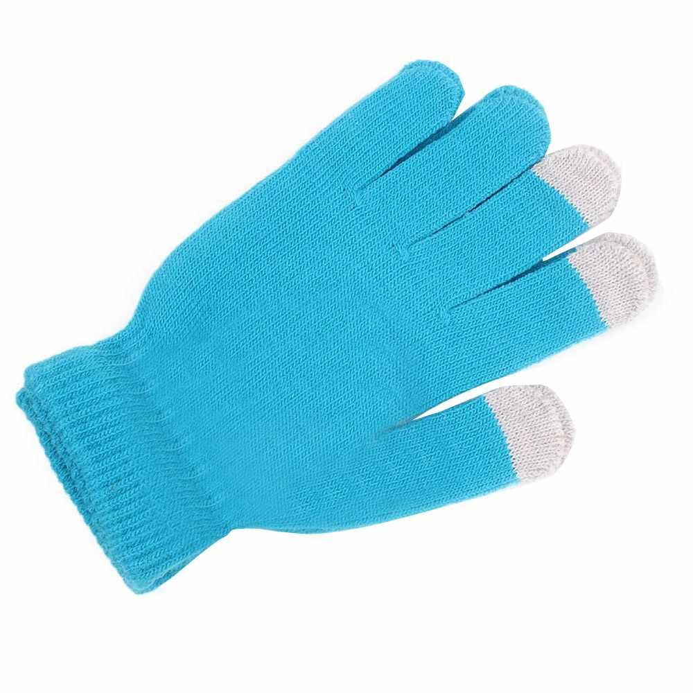 Mulheres inverno cashmere malha golves feminino tela de toque dedos luvas de lã senhora alta qualidade quente luvas rekawiczki zimwe