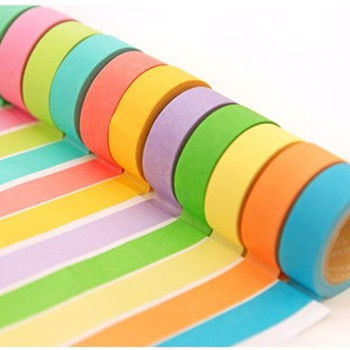 Rainbow Masking Tape Washi Tape Solid Color adhesive Tape Sticky Paper Tape Adhesive Printing Scrapbooking Decoration 2 4cm 50m washi tape excellent quality paper tape adhesive tape washi masking tape