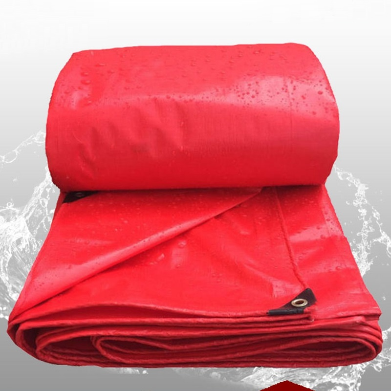 Thick 0.23mm China Red Rainproof Cloth Waterproof Tarpaulin Garden Canvas Outdoor Awning Sunshade Cloth Succulent Plants Cover
