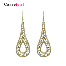 Carvejewl tear drop dangle earrings for women jewelry girl gift bohemian new fashion korean hot sale  bijoux earings