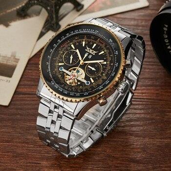 Gorben Stainless Steel Band Waterproof Business Sport Mechanical Wristwatch Luxury Men Watches Male Clock Wrist Watches