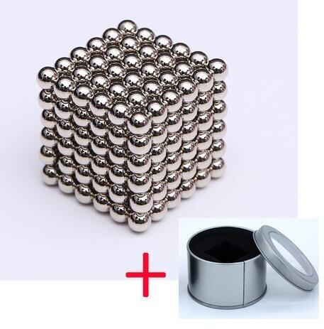 216pcs 3mm Magnetic Cube Balls DIY Magic Magnet Construction Creative Neo Magic Puzzle Toys