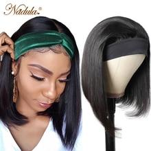 Nadula прямой короткий боб парик доступная повязка на голову Боб человеческие волосы парик прямые волосы повязка на голову парики эластичные ...
