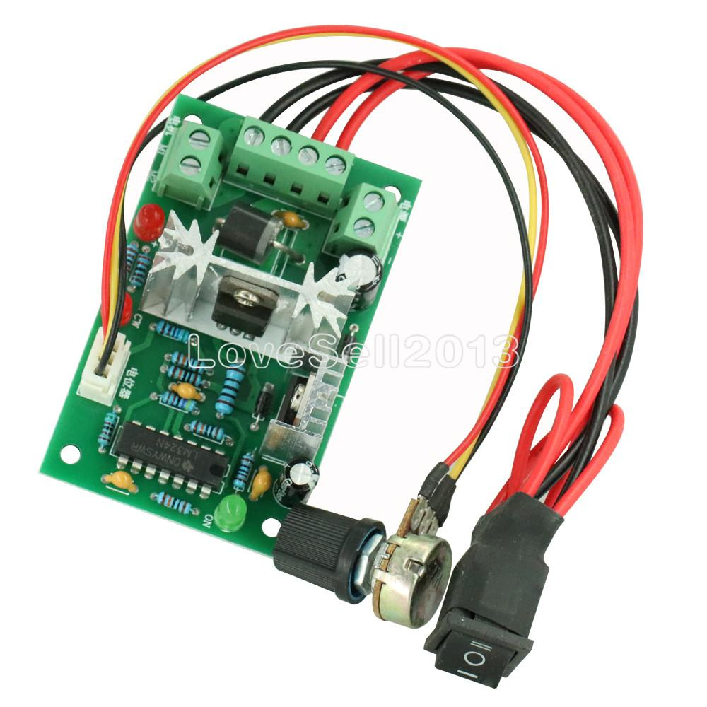 DC 6-30V 6A Motor Speed Controller Reversible PWM Control Forward/Reverse Switch Board 6V-30V Max 10A Module 12V 24V