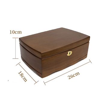 Hot Wooden Jewelry Organizer Box With With Lock Double Layer Jewellery Storage Cases Women Rings