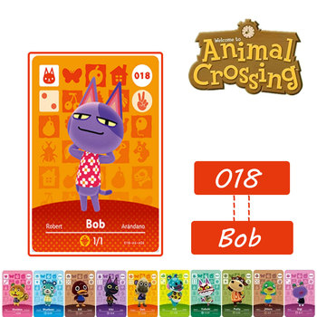 018 Bob Animal Crossing Card Amiibo # marshal NFC Card for NS Switch Game #018 Bob  Set series 1 2 3 4 конструктор lno gift series 018 локи