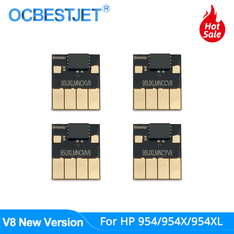 V8 New 954 ARC Chip For HP 954 954XL Auto Reset Chip For HP Officejet Pro 7740 8210 8710 8715 8720 8725 8730 8740 Permanent Chip