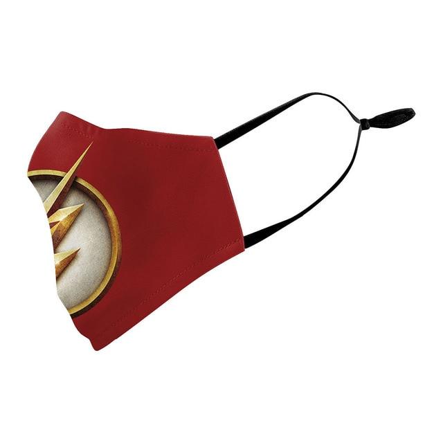 Superhero The Flash Thanos Iron Man Wonder Woman Cosplay Face Mask Dustproof Adult Kids Masks 4