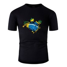 Brazil Rio De Janeiro Fitted Tshirt Natural Cool Comical Men T Shirts Black Basic Solid Short-Sleeve Tee Top(China)
