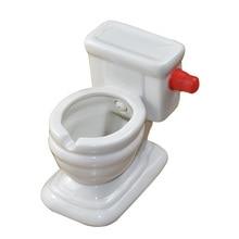 Ashtray Funny Ceramic Toilet-Shape Home-Furnishing-Decoration Creative NEWYEARNEW Car-Ornament